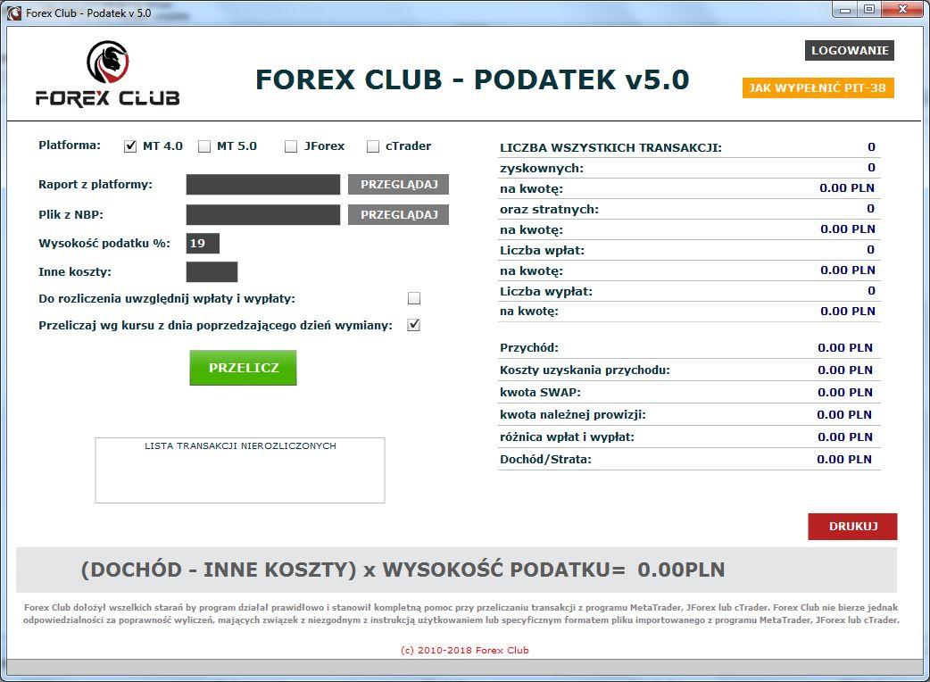forex club podatek
